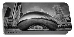 Morning Bean In Black And White Portable Battery Charger