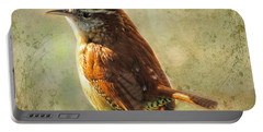 Morning Carolina Wren Portable Battery Charger by Debbie Portwood
