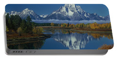 Morning Cloud Layer Oxbow Bend In Fall Grand Tetons National Park Wyoming Portable Battery Charger