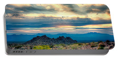 Morning Desert Glow Portable Battery Charger by Fred Larson