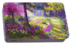 Morning Dew Portable Battery Charger by Jane Small