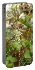 Morning Dew Portable Battery Charger by Vicki Spindler