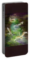 Portable Battery Charger featuring the photograph Morning Fishing by Melinda Hughes-Berland
