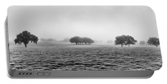 Portable Battery Charger featuring the photograph Morning Fog by Howard Salmon