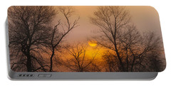 Morning Fog Portable Battery Charger by Roger Becker