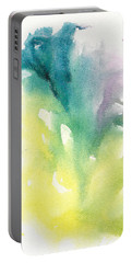 Portable Battery Charger featuring the painting Morning Glory Abstract by Frank Bright
