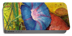 Morning Glory Bloom In Apples Portable Battery Charger