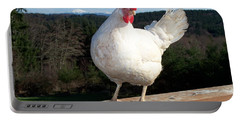 Portable Battery Charger featuring the photograph Morning Greeting by Chalet Roome-Rigdon