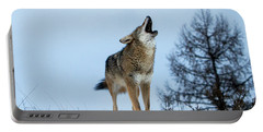 Portable Battery Charger featuring the photograph Morning Howl by Jack Bell