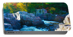 Morning In Eau Claire Dells Portable Battery Charger by Tiffany Erdman