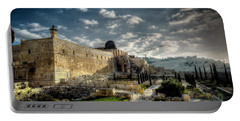 Morning In Jerusalem Hdr Portable Battery Charger