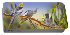 Morning Light - Cockatiels Portable Battery Charger