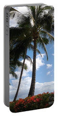 Morning Palms Portable Battery Charger by Fred Wilson