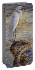 Morning Perch-egret Portable Battery Charger