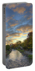 Morning Sky On The Fox River Portable Battery Charger by Daniel Sheldon