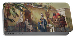 Moroccan Scene Portable Battery Charger by Rudolphe Ernst