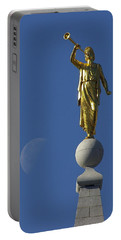 Moroni And The Moon Portable Battery Charger by David Andersen