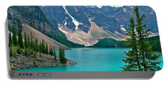 Morraine Lake In Banff Np-alberta Portable Battery Charger