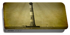 Morris Island Light Vintage Bw Uncropped Portable Battery Charger