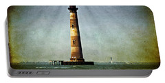 Morris Island Light Vintage Color Uncropped Portable Battery Charger