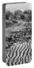 Morro Beach Textures Bw Portable Battery Charger