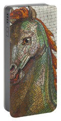 Mosaic Horse Portable Battery Charger by Marcia Socolik