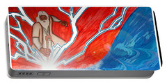 Portable Battery Charger featuring the painting Moses by Justin Moore