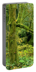 Portable Battery Charger featuring the photograph Moss Draped Big Leaf Maple California by Dave Welling