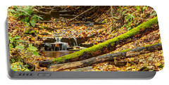 Mossy Log And Stream Portable Battery Charger