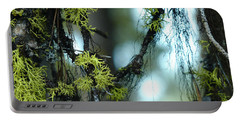 Mossy Playground Portable Battery Charger by Meghan at FireBonnet Art