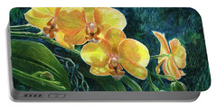 Portable Battery Charger featuring the drawing Moth Orchids by Sandra LaFaut