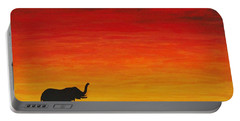 Portable Battery Charger featuring the painting Mother Africa 1 by Michael Cross