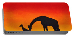 Portable Battery Charger featuring the painting Mother Africa 2 by Michael Cross