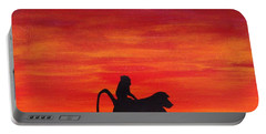 Portable Battery Charger featuring the painting Mother Africa 4 by Michael Cross