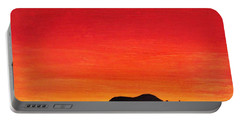 Portable Battery Charger featuring the painting Mother Africa 5 by Michael Cross