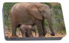 Mother And Calf Portable Battery Charger by Bruce J Robinson