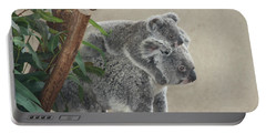 Mother And Child Koalas Portable Battery Charger by John Telfer
