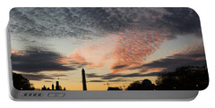 Mother Nature Painted The Sky Over Washington D C Spectacular Portable Battery Charger by Georgia Mizuleva