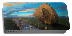 Portable Battery Charger featuring the painting Mother Of Anguishes  by Lazaro Hurtado