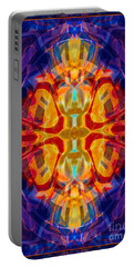Mother Of Eternity Abstract Living Artwork Portable Battery Charger