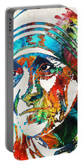 Mother Teresa Tribute By Sharon Cummings Portable Battery Charger