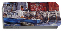 Motif I - Wharf Scene  Portable Battery Charger