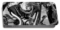 Motorcycle Engine Black And White Portable Battery Charger