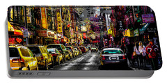 Portable Battery Charger featuring the photograph Mott Street by Chris Lord
