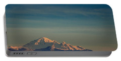 Mount Baker Sunset Portable Battery Charger by Charlie Duncan