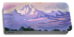 Mount Kenya At Dawn Portable Battery Charger