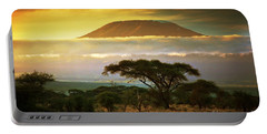 Mount Kilimanjaro Savanna In Amboseli Kenya Portable Battery Charger