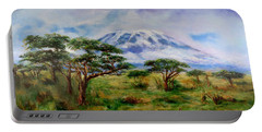 Mount Kilimanjaro Tanzania Portable Battery Charger by Sher Nasser