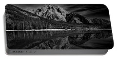 Mount Moran In Black And White Portable Battery Charger