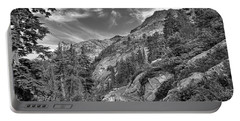 Mount Pilchuck Black And White Portable Battery Charger